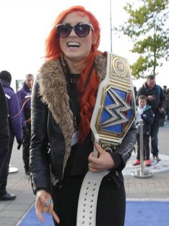 Becky Lynch WWE Fur Shearling Jacket