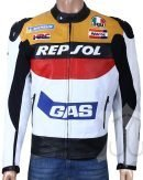 Biker Repsol Leather Jacket