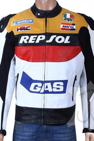 Biker Repsol Leather Jacket