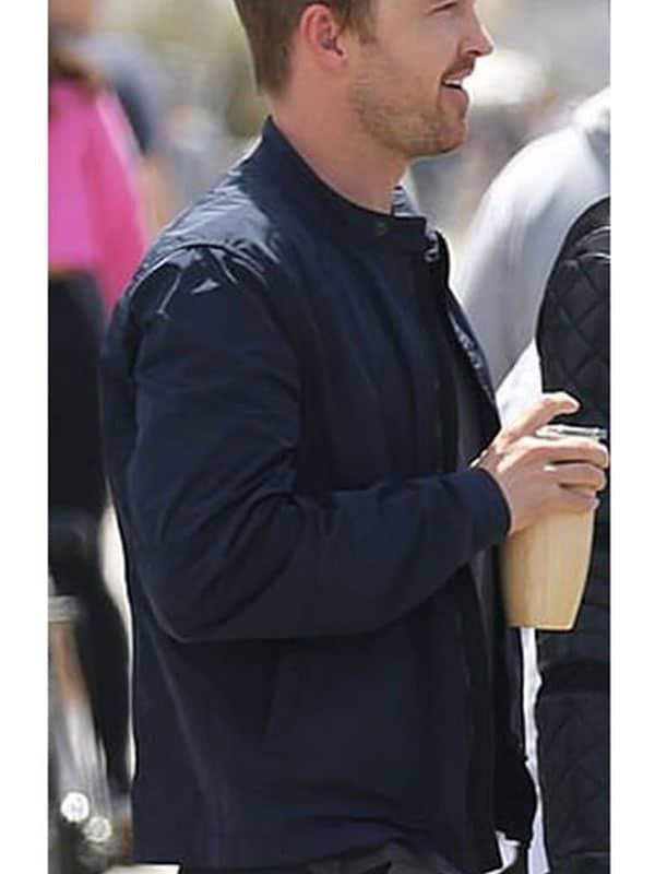 Blue Cotton Jacket worn by Aaron Paaul in Westworld Season 3