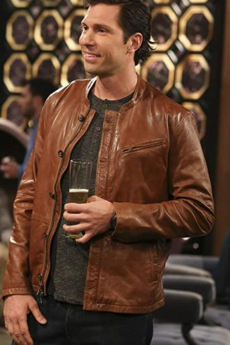 Brian Thomas Smith The Big Bang Theory Brown Leather Jacket