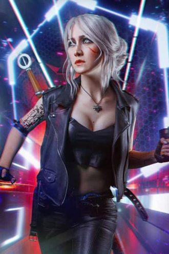 Ciri Cyberpunk 2077 Leather Vest