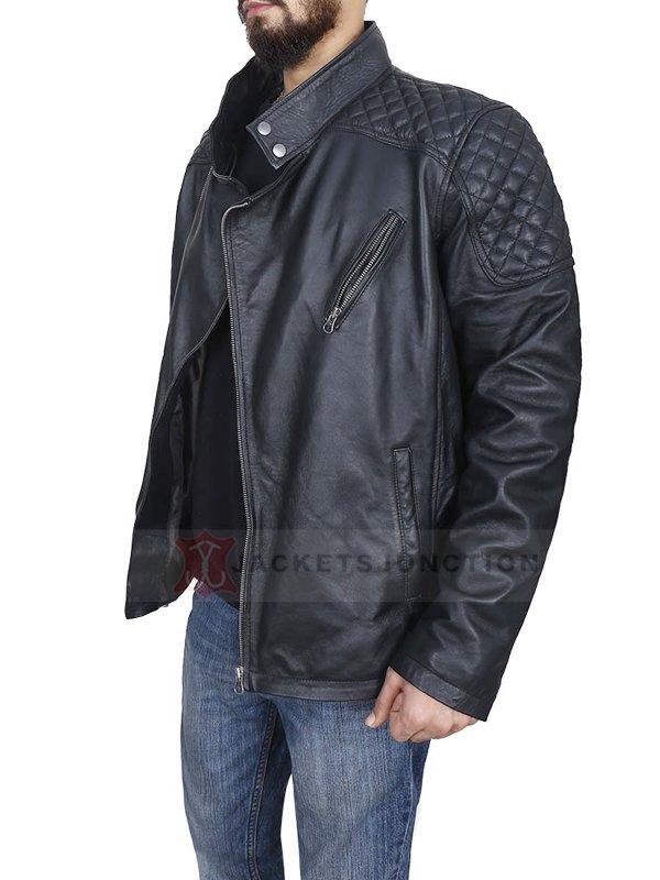 Cyberpunk 2077 Johnny Silverhand Black Motorcycle Leather Jacket