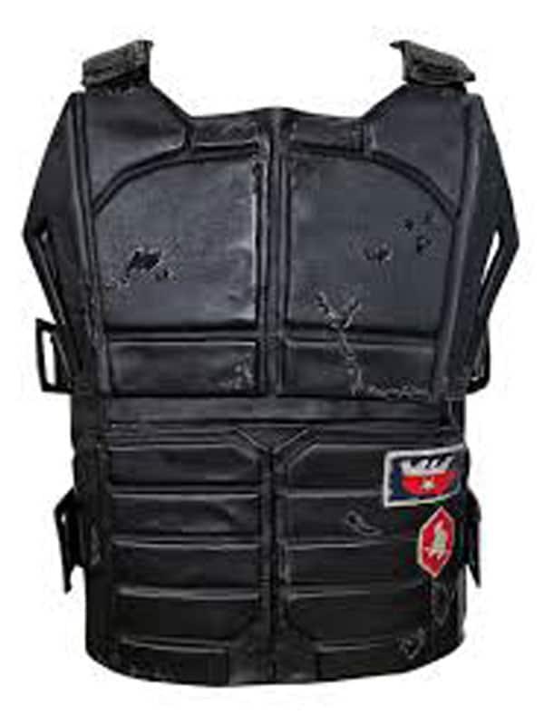 Cyberpunk 2077 Keanu Reeves Black Leather Vest