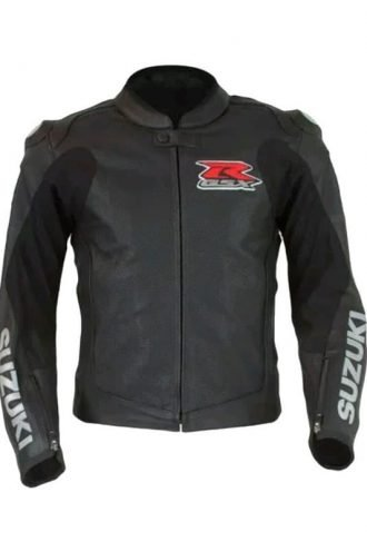 GSX-R Black Leather Jacket