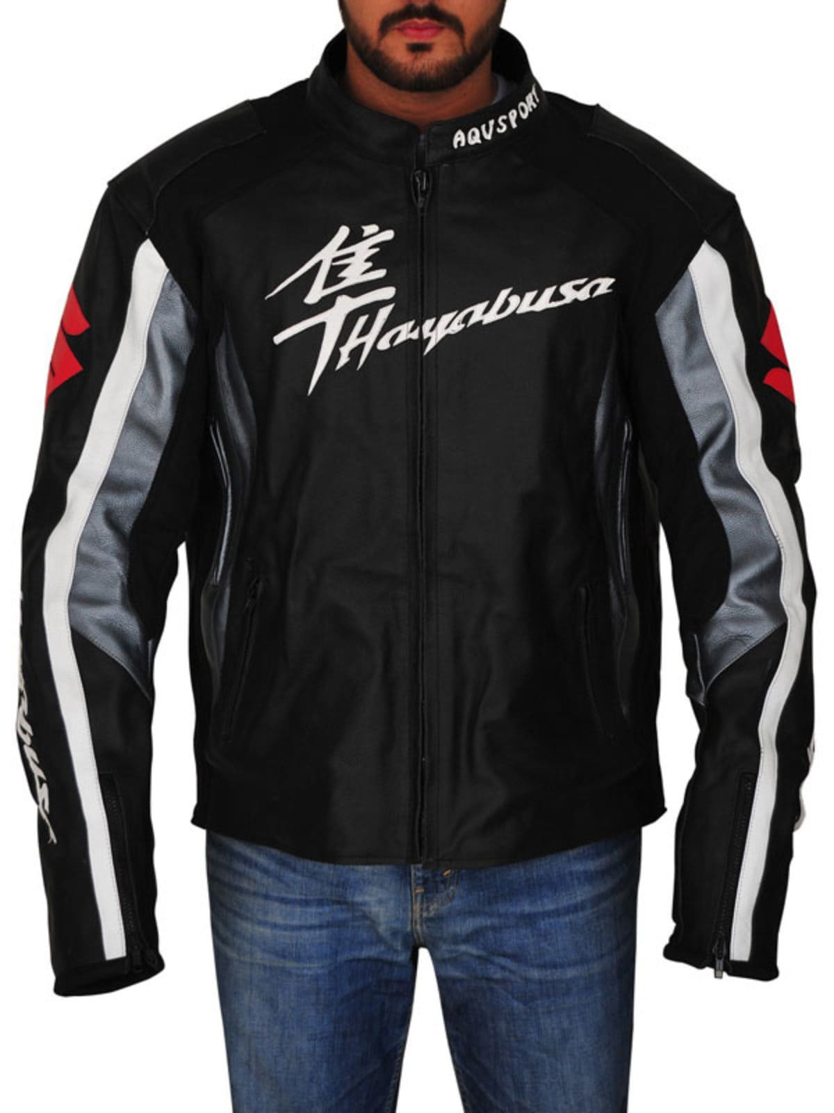 Men Suzuki Hayabusa Motorbike Riding Jacket