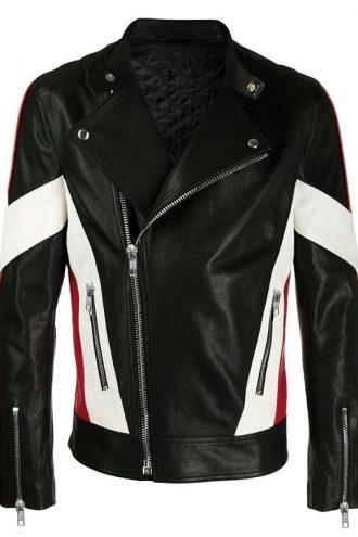 Men Trendy Fashion Black Biker Leather Jacket