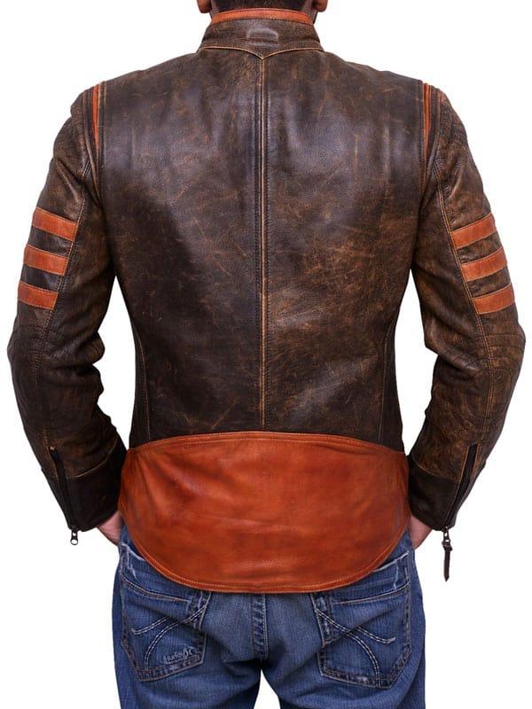 Orignal Brown Leather X-Men Wolverine Jacket