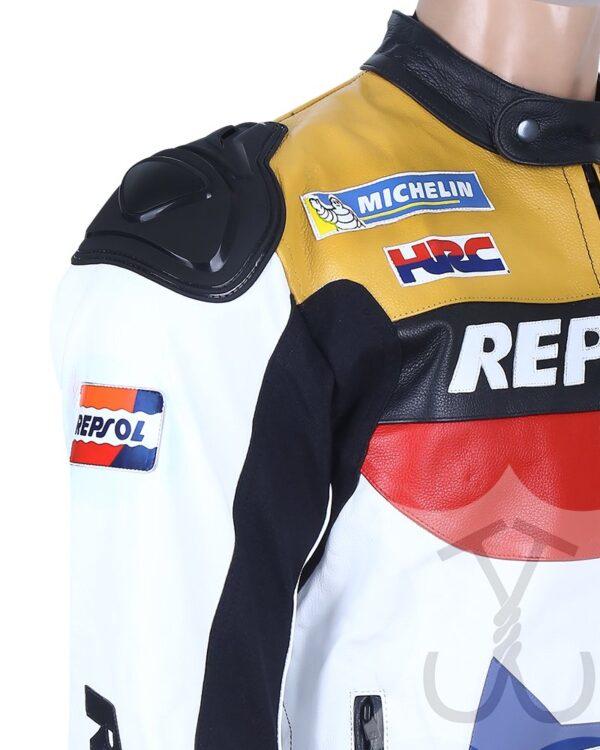 Repsol Biker Leather Jacket