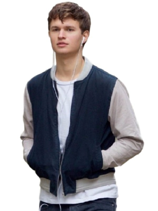 Ansel Elgort Baby Driver Varsity Jacket for Men