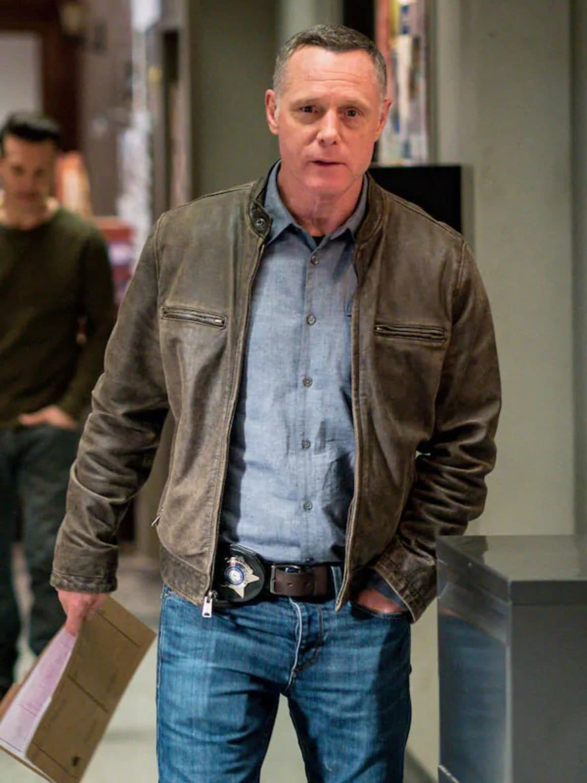 Chicago P.D. Jason Beghe Leather Jacket