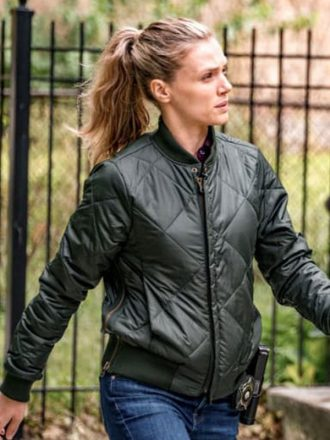 Chicago P.D. Tracy Spiridakos Quilted Bomber Jacket