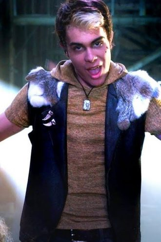 Fur Shearling Collar Brown Vest Worn by Wyatt in Zombies 2