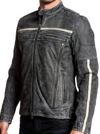 Men Biker Vintage Jacket