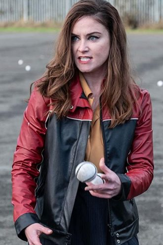 Ms De Brun TV Series Derry Girls Leather Jacket