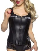 Sons of Anarchy Black Leather Corset