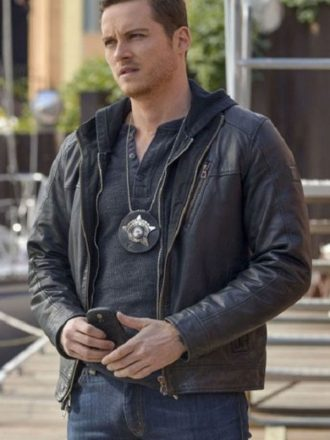 TV Series Chicago P.D. Jay Halstead Black Leather Jacket