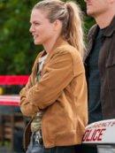 Tracy Spiridakos TV Series Chicago P.D. S07 Hailey Upton Brown Bomber Jacket
