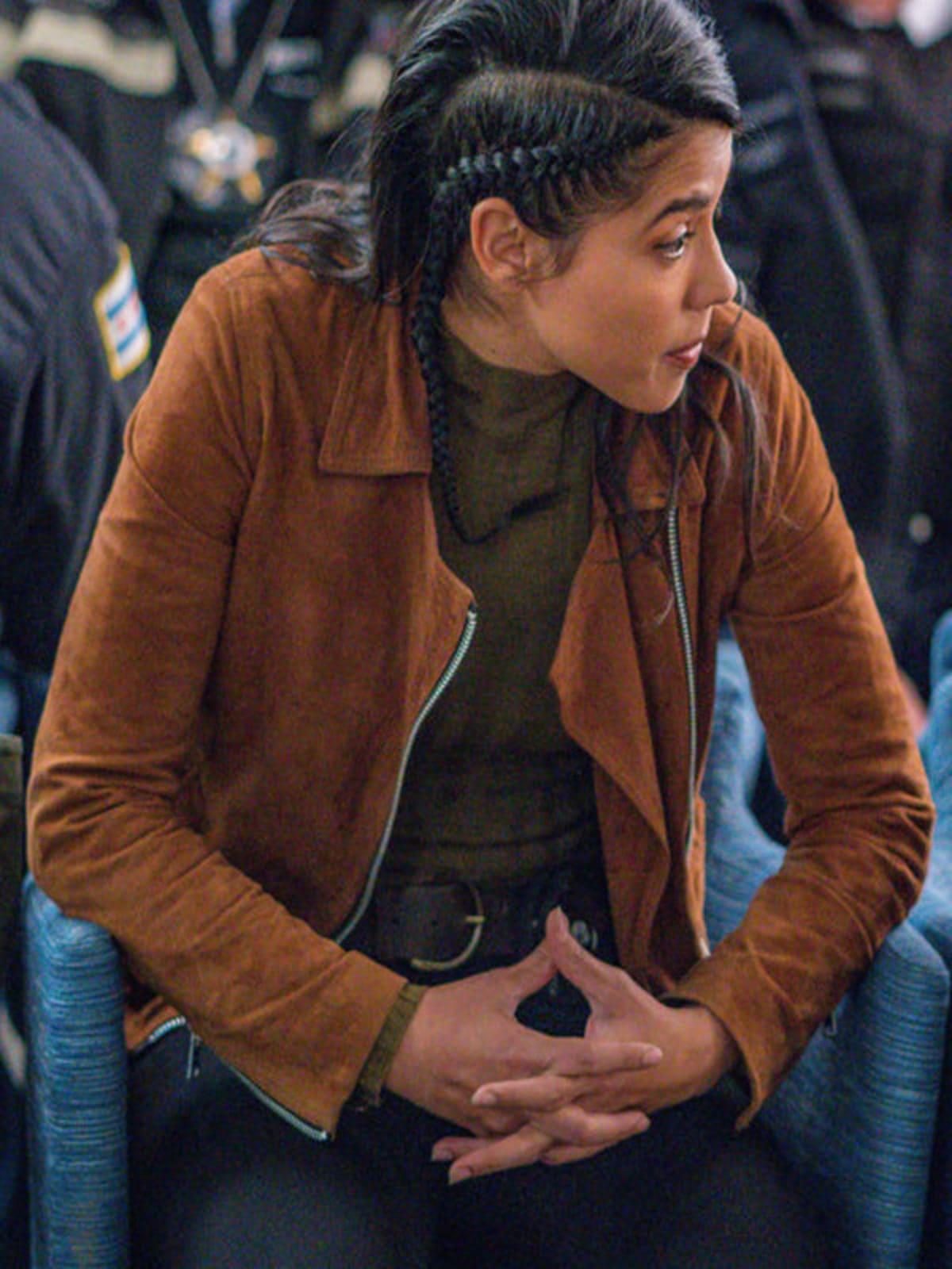 Vanessa Rojas Chicago PD S07 Suede Jacket