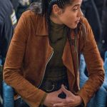 Vanessa Rojas Chicago PD S07 Suede Jacket