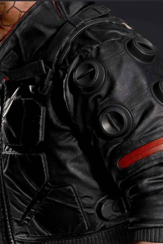 Videogame Cyberpunk 2077 Jackie Welles Black Bomber Jacket