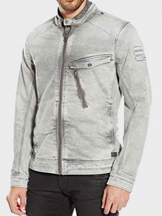 13 Reason Why Tony Padilla Grey Denim Jacket