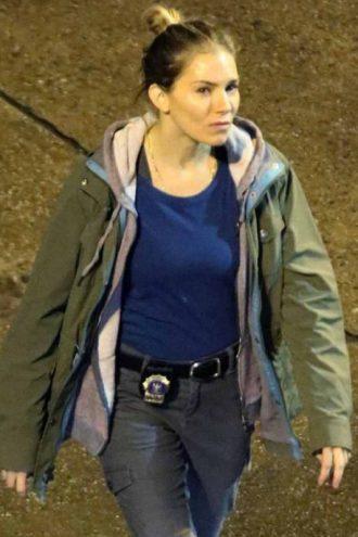21 Bridges Sienna Miller Green Hooded Jacket
