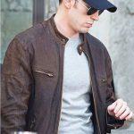 Captain America Civil War Chris Evans Brown Leather Jacket