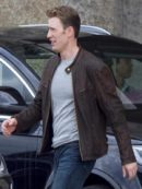 Chris Evans Civil War Leather Jacket