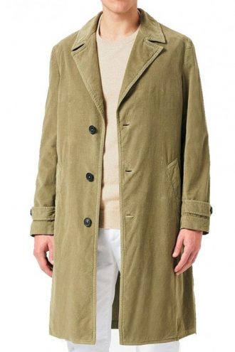 Daniel Craig No Time To Die Green Corduroy Coat