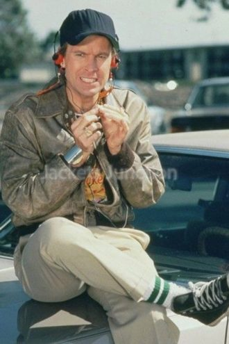 Dwight Schultz A Team Brown Leather Jacket