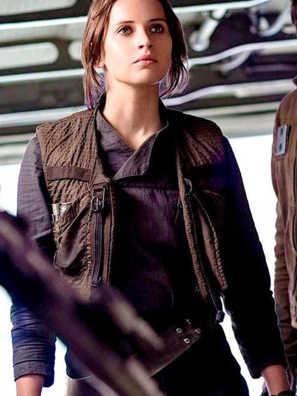 Felicity Jones Vest Jacket