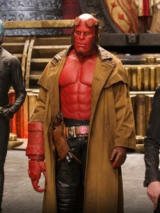 Hellboy Ron perlman Cotton Trench Coat