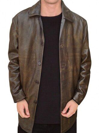Jack Ackles Supernatural Brown Leather Coat