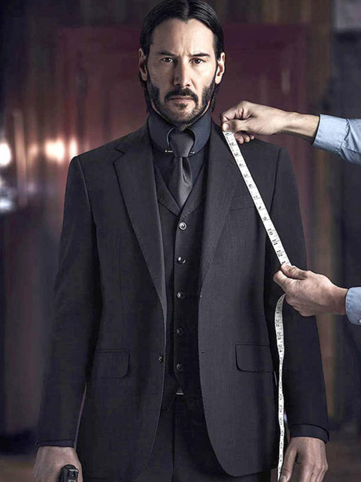John Wick Keanu Reeves Three PIece Suit