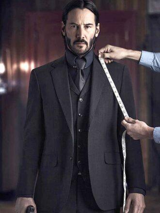 John Wick Keanu Reeves Three PIece Suit