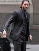 Keanu Reeves John Wick 3 PIece Black Suit