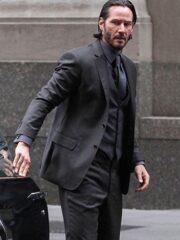 Keanu Reeves John Wick 3 PIece Black Suit