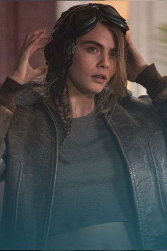 Margo Paper Town Cara Delevingne Brown Leather Jacket