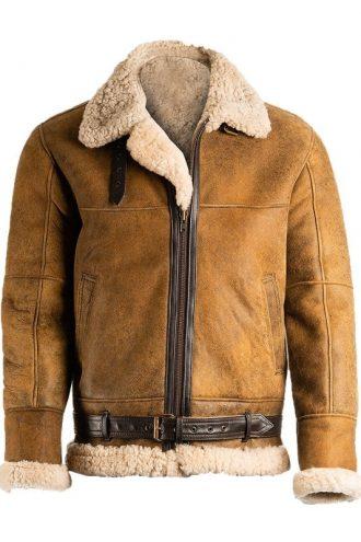 Mens B3 Shearling Brown Jacket