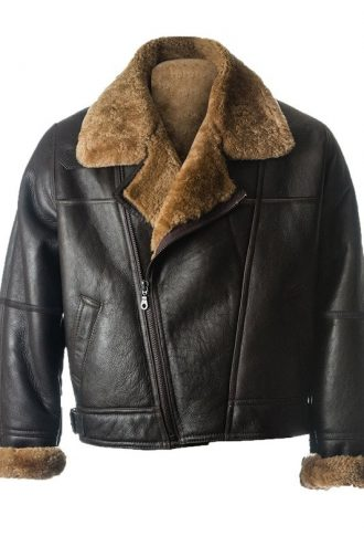 Mens Black Sheepskin Leather Jacket