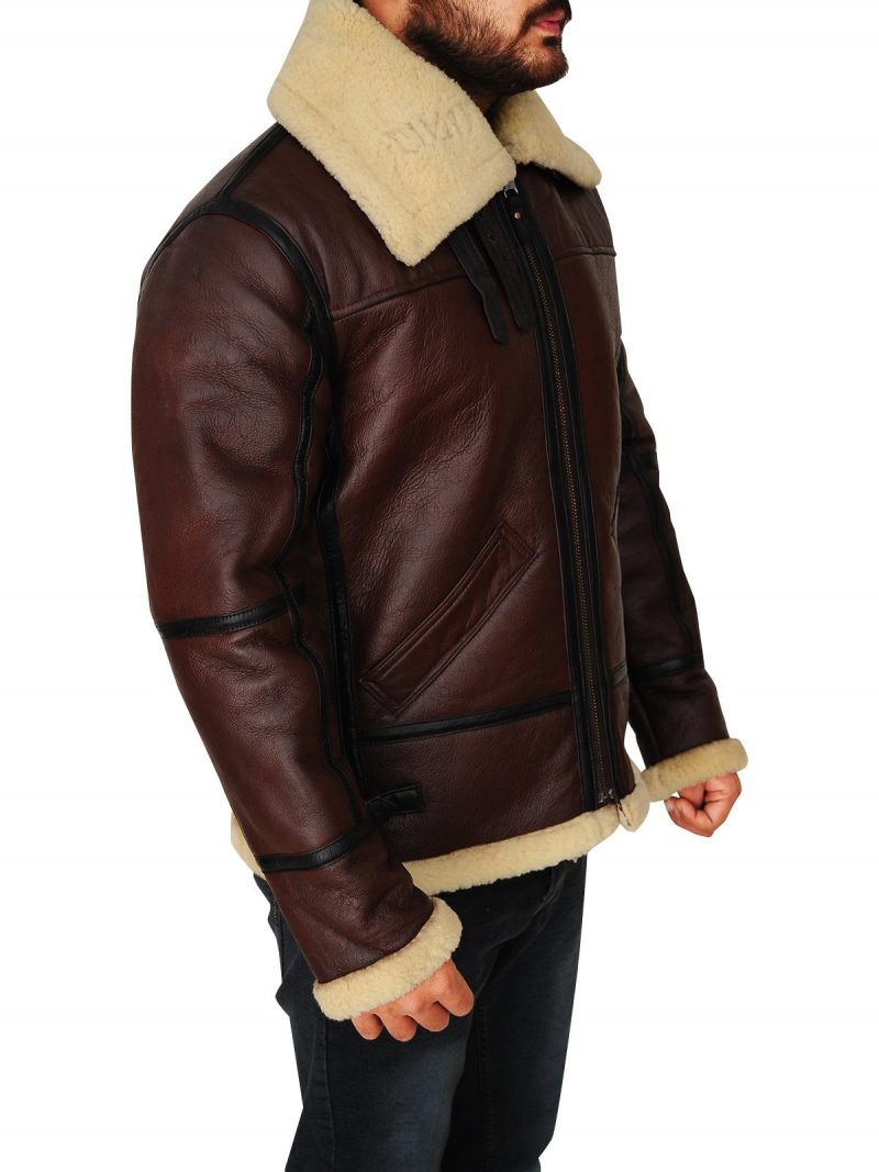 Mens Brown Shearling Jacket