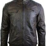 Mens Retro Vintage Biker Leather Jacket