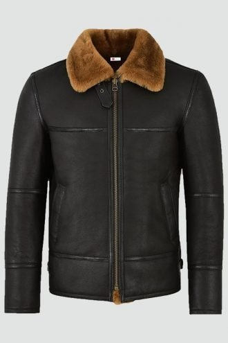 Mens Traditional Shearling Leather Jacket