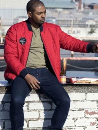 Noel Clarke Bulletproof Red Bomber Jacket