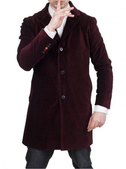 Twelfth Doctor Peter Capaldi Maroon Velvet Coat