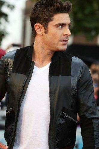 We Are Your Friends Zac Effron Black Leather Jacket