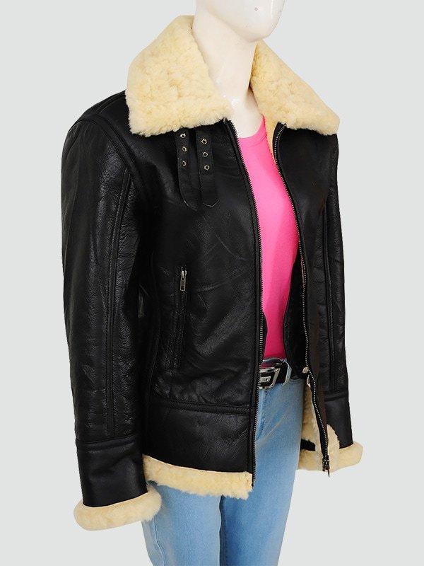Womans Black Bomber Jacket
