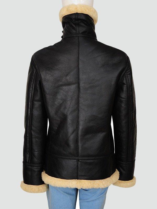 Womans Black Leather Jacket