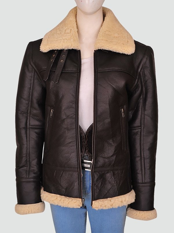 Women Brown Leather Jacket